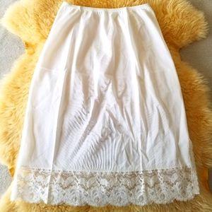 2/$25 White Lace Vintage Slip